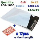 100-1000 Poly Mailers Mailing Self Sealing Envelopes Plastic Bags Free Shipping
