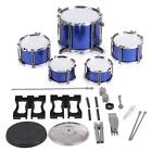 586-103 Drum Set Kids 5 Drums with Small Cymbal Stool Drum Sticks Golden G5W8