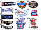 Triumph motorcycles Vintage Cafe Racer Biker British Jacket Shirt iron on patch $4.99 USD