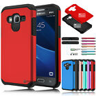 Slim Shockproof Hybrid Rubber Armor Case Cover for Samsung Galaxy J3 (2016) J3 V