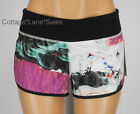 NEW LULULEMON Run Speed Short Sz 6 8 Pigment Wave Multi Black Shorts FREE SHIP