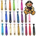 Stain Solid 23 Color Clip-on Pirate Bear Necktie Boys Formal Suits Newborn - 7