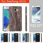 Leather Patterned PC Skin Back Cover Case For Samsung Galaxy A310/510/S7/Note 5