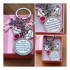 Happy Birthday Keepsake Gift keyring -13th 18th 21st 30th,40th, 50th ,60th**