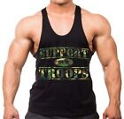 Camo Support Our Troops Stringer Tank Top Shirt US Military Army Marines Navy