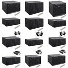 Square/Rectangular Furniture Cover Outdoor Patio Table Chair Waterproof 12 Sizes