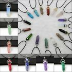 1/3/5/10Pcs Natural Quartz Crystal Stone Point Chakra Gemstone Pendant Necklace
