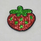 Red strawberry sequins  Embroidery Iron/sew on patch applique badge Motif badge