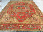 INDIAN HAND KNOTTED HERIZ SERAPI PERSIAN ORIENTAL AREA RUG WOOLEN CARPET TEPPICH