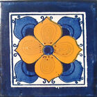 #C010 TILE MEXICAN HAND MADE HAND PAINTED TALAVERA TILES WALL OR FLOOR USE DECOR