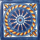 #C007 TILE MEXICAN HAND MADE HAND PAINTED TALAVERA TILES WALL OR FLOOR USE DECOR