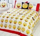 Rapport Multi Icons Emoji Fully Reversible Duvet Set S/D/K