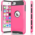 For Apple iPod Touch 5 5th / 6 6th Gen Hybrid Rubber Shockproof Hard Case Cover <br/> ▶100+ SOLD ▶ 13 COLORS ▶FREE SHIPPING ▶