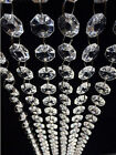 10/30m Clear Acrylic Crystal Beads Garland Chandelier Hanging Wedding Supplies