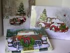 Antique Truck, Car & Christmas Tree LED Light Art Canvas - 3 Versions, choose 1
