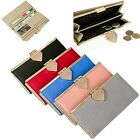 Women Long Wallet Cow Leather Trifold Clutch Woman Purse Card Bill Coin 3218A