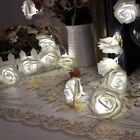 2.2M 20 Led Rose Flower Christmas Xmas Wedding Party Outdoor Fairy String EA77