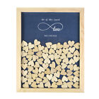 Personalized  Love Forever Drop Top Guest Book Wooden Frame Heart Wedding Decor
