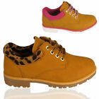 Ladies Chukka Wheat Brown Tan Lace Hiker Worker Grip Sole Army Combat Ankle Boot