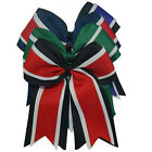 8 Inch Three Latyers Cheerleading Cheer Bow  For Girls  Elastic Ponytail Holder