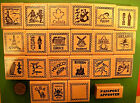 Внешний вид - Country and Continent Passport Stamp Frame Rubber Stamps, wood mtd., your choice