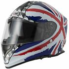 VCAN V127 FULL FACE MOTORCYCLE HELMET & INTERNAL SUN VISOR UNION JACK DESIGN