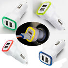 Multicolor Dual 2 USB Port LED Car Charger Adapter Universal for Smart Phone