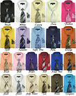 Men's Dress Shirt with Matching Tie  Handkerchief, Comes in 22 Colors 21B