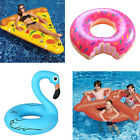 Inflatable Swimming Ring Float Swim Raft Pool Fun Water Beach Swim Toy UK