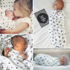 Soft Muslin Baby Wrap Swaddling Blanket Newborn Infant Swaddle Towel 120x120cm