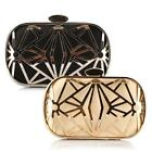 Handbags Exquisite Metal Hollow Designer Clutch Evening Hard-case
