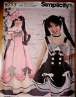PATTERN SIMPLICITY LOLITA ANIME Manga DRESS Corset Costume 6 to 22 8233 Misses