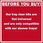 Adjustable Tray Riser Kit Plinth Easy Plumb Quad Shower Enclosure