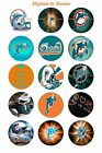 """MIAMI DOLPHINS 1 """" CIRCLES  BOTTLE CAP IMAGES. $2.45-$5.50 ***FREE SHIPPING*** $2.45 USD on eBay"""