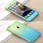 360° Full Hybrid Tempered Glass + Acrylic Hard Case Cover F iPhone 6 6S 7 8 Plus