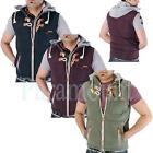 Soulstar Futile Hooded Quilted Gilet  Mens Size