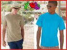 Promotion T-SHIRTS T-SHIRT FRUIT OF THE LOOM SHORT SLEEVES COTTON STOCK 27 col
