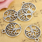 10x Tibetan 'tree Of Life Circle' Charms Pendants For Jewelry Finding Xmas Gift
