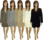 Womens Ladies Cardigan Knitted Long Sleeve 1 Button Pocket Cardigan 8 10 12