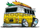 KOOLART CARTOON TEE SHIRT 1943 VW CAMPER VAN YELLOW