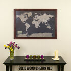 Earth Tone World - Travel Map with pins - Great Gift - Show Your Travels