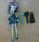 Monter High Doll Blue Frankie Stein + brush, key, extra Dress
