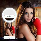 New Selfie LED Ring Flash Fill Light Clip Camera For Phone iPhone Samsung HTC
