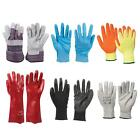 Cut Protection Gloves Builders Latex PU Coated Thermal Gel Fingerless Disposable