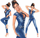 Sexy Women's Denim Blue Jeans Playsuit Jumpsuit Overall Skinny Slim A 566