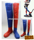 Suicide Squad Harley Quinn Harleen Quinzel cosplay shoes boots Red Blue colour