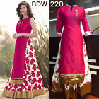 Bollywood Style - Wedding Wear Floral Pink One-Piece Gown - BWD220-2