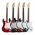 Musical Instruments - NEW Beginner Electric Guitar w/ Package Case Strap Picks Tuner Starter Pack USA