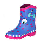 ANIMAL NEW Girl's Wellington Boots Blue Boo Wellies BNWT