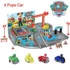 Paw Patrol Car Park Marshall Rubble Chase Rocky Dog Figures Pups Kids Toys Gift